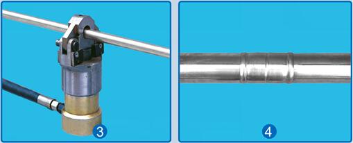 环压式不锈钢管安装示意图片